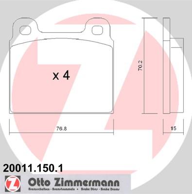 Bremseklodser 20011 fra Zimmermann på mpparts.dk